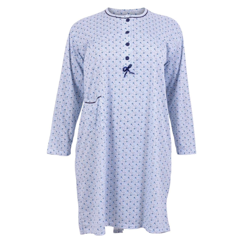 Roseline - +Size natkjole med lomme - Blå - Størrelse 54