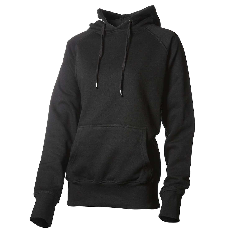 Hurricane - Campus dame hoodie - Sort - Størrelse M