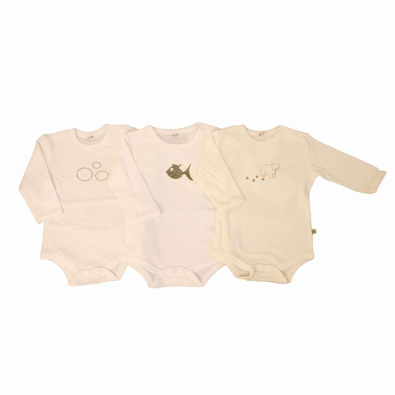 Pippi - Body langærmet - Hvid - Størrelse 104