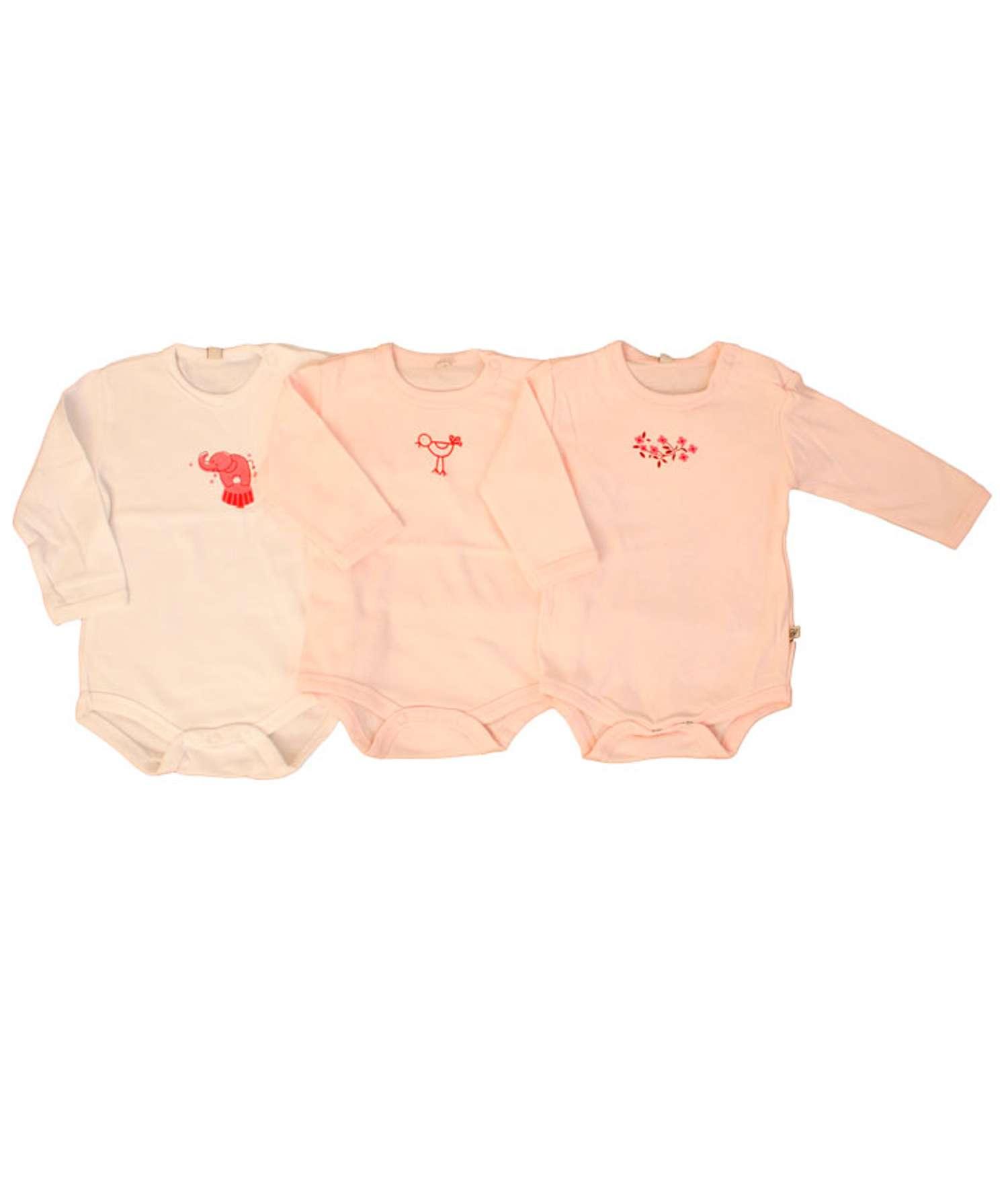 Pippi - Body langærmet - Rosa - Størrelse 56