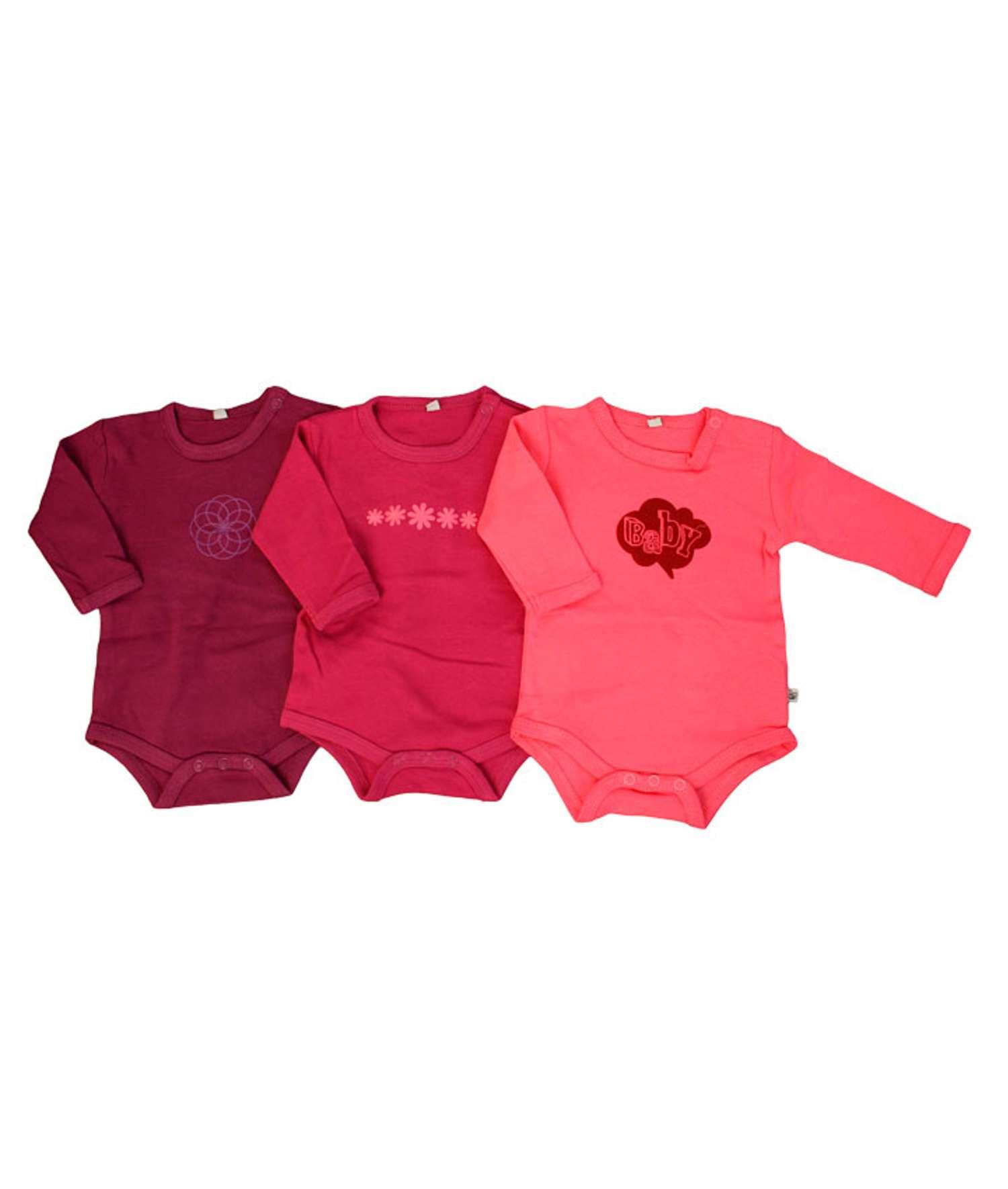 Pippi - Body langærmet - Pink - Størrelse 50