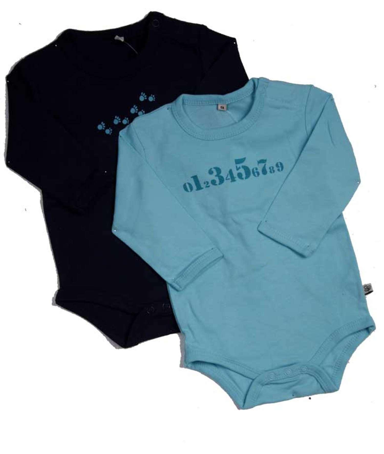 Pippi - Body langærmet - Blå - Størrelse 50