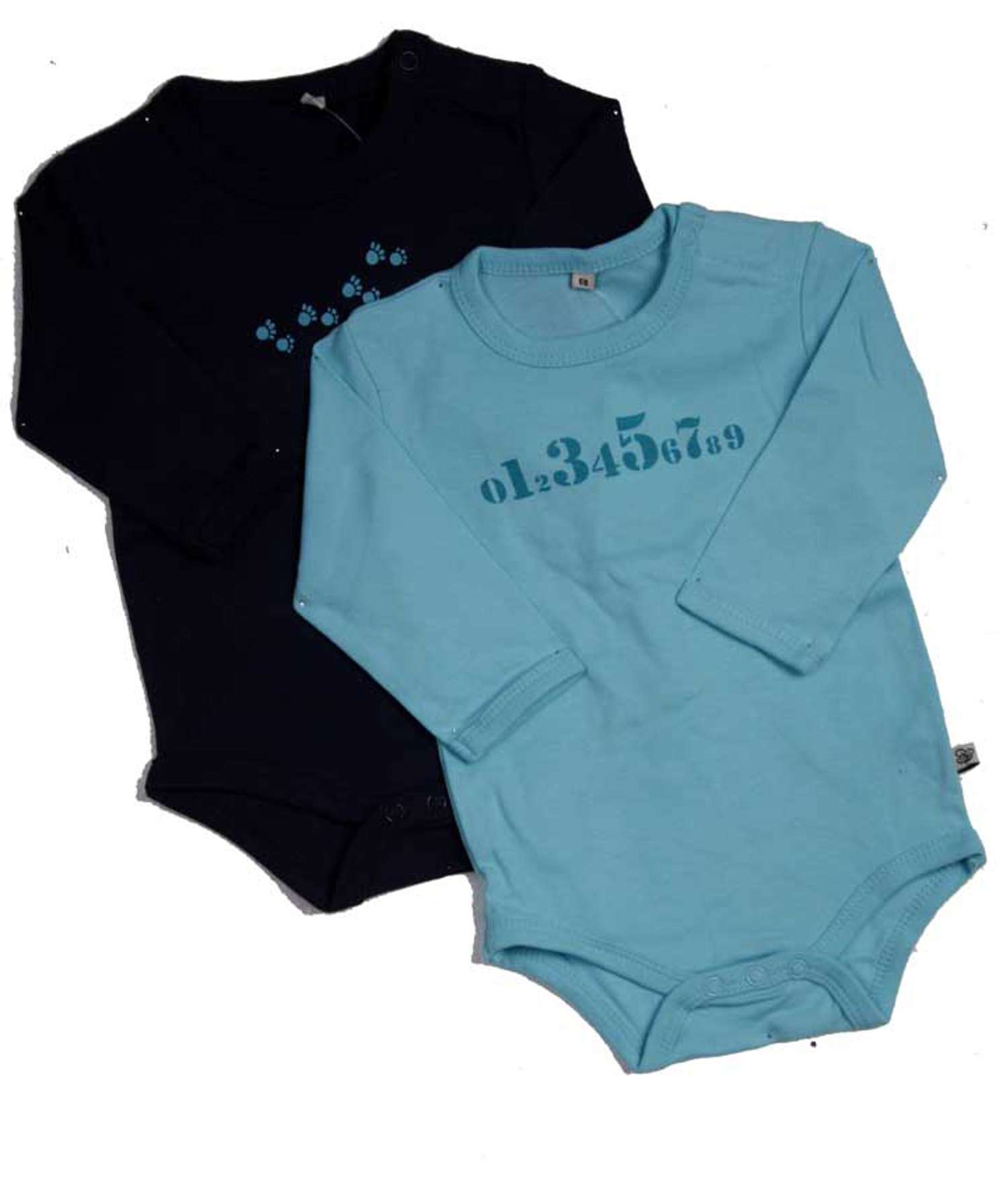 Pippi - Body langærmet - Blå - Størrelse 68