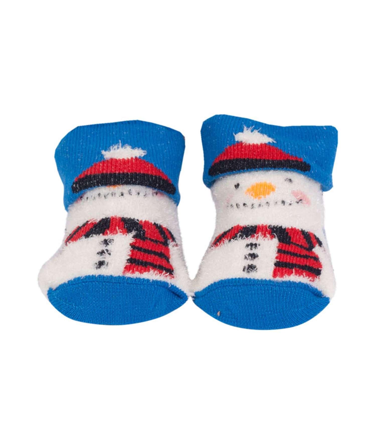 Angro - Baby julestrømper - Blå - Størrelse 50/56