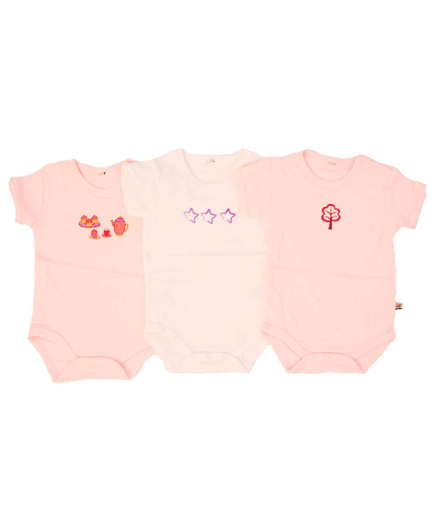 Pippi - Body kortærmet - Rosa - Størrelse 74