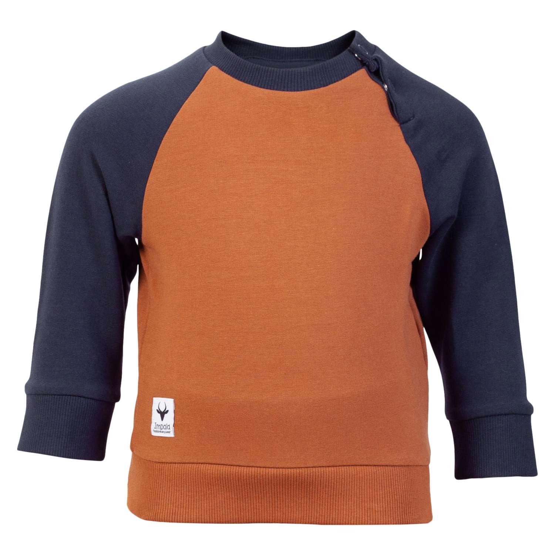 Impala - Alpha baby sweatbluse - Brændt orange - Størrelse 74