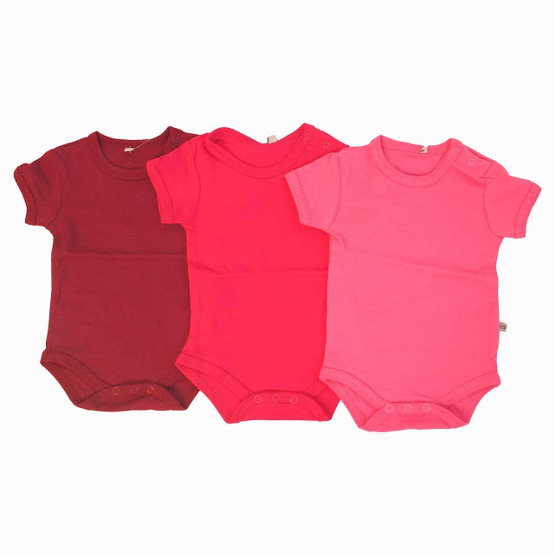 Brands4kids - Kortærmet ensfarvet body - Pink - Størrelse 80