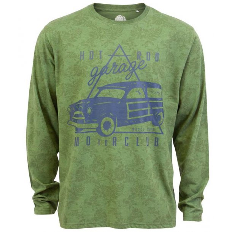 Loaded Mens – Motorclub herre langærmet t-shirt +Size – Grøn