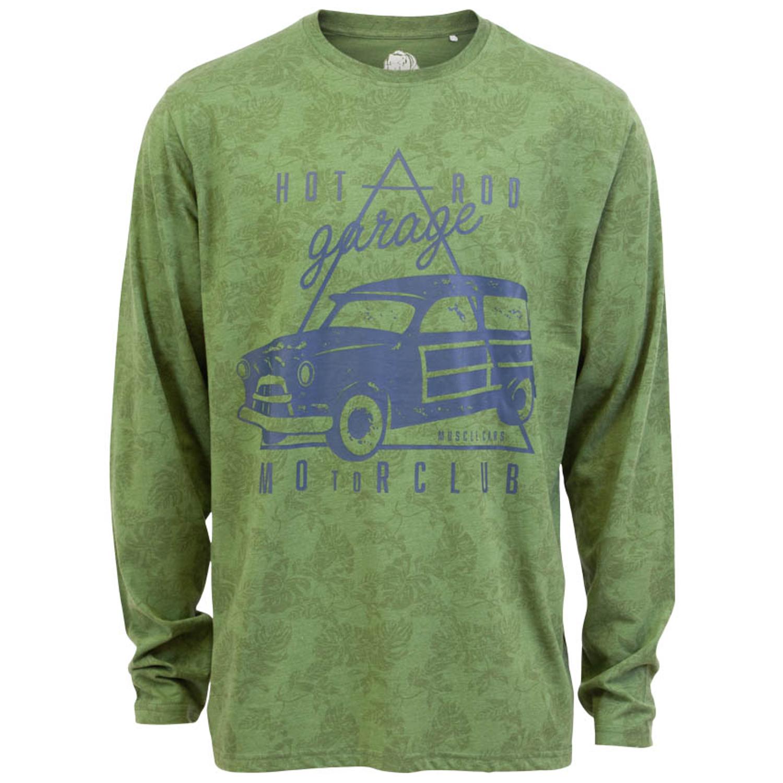 Loaded Mens – Motorclub herre langærmet t-shirt – Grøn