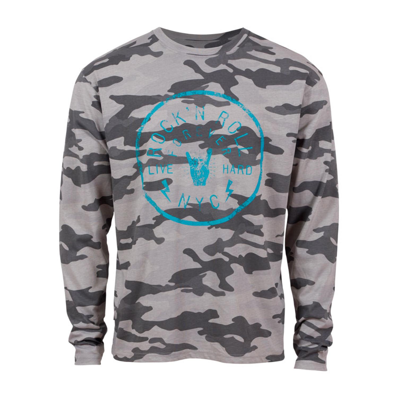 Loaded Mens – RNR herre langærmet t-shirt +Size – Grå