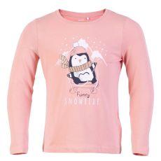 Guppy - Langærmet t-shirt m. dyreprint - Rosa