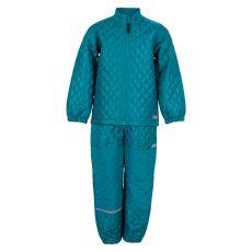 Steenholt outerwear - Lund børne termosæt - Petroleumsblå