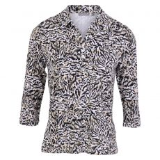 Textil Kartner - Leopard skjortebluse - Brun