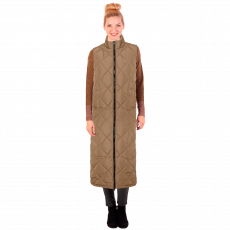 Noisy May - Quiltet x-long vest - Sand
