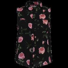Hailys - Dame skjorte bluse u. ærmer - Sort