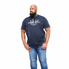 Duke clothing - Randwick +Size herre t-shirt - Navy
