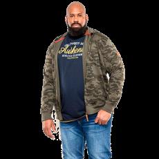 Duke clothing - Antonio +size herre hættetrøje m. lynlås - Grøn