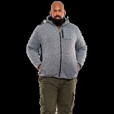 Duke clothing - D555 Ozark +Size herre strik jakke - Grå