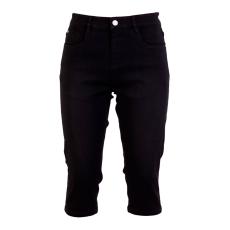 Steenholt Female+ - Plus size grace 3/4 stretch denim shorts - Sort