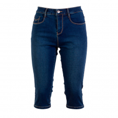 Steenholt Female+ - Plus size grace 3/4 stretch denim shorts - Navy