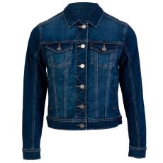 ZUPPLY - Jennie +Size dame denim jakke stretch - Mørkeblå