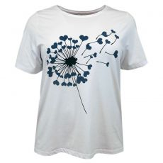 Cassiopeia - Camella +size dame t-shirt m. print - Navy