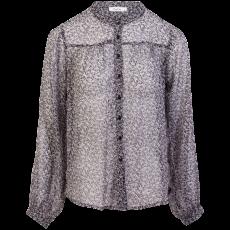 ChaCha - Dame skjortebluse - Sort