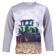 Happy Star - Drenge traktor trøje - Grå