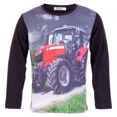 Happy Star - Drenge traktor trøje - Sort