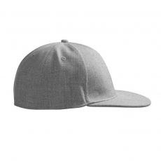 ID - Uld-look cap m. flad skygge - Grå