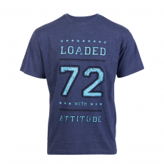 Loaded Mens - L.A. 72 herre t-shirt +Size - Navy