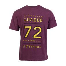Loaded Mens - L.A. 72 herre t-shirt +Size - Bordeaux