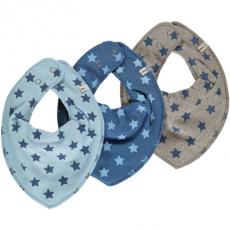 Pippi - Smæk tørklæde m. print 3-pak - Blå
