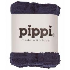 Pippi - Vaskeklud ensfarvet (4-pak) - Navy