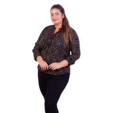 ZbyZ - +Size bluse med flæse detalje - Sort