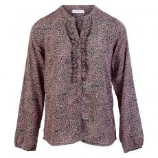 ZbyZ - +Size bluse med flæse detalje - Grøn