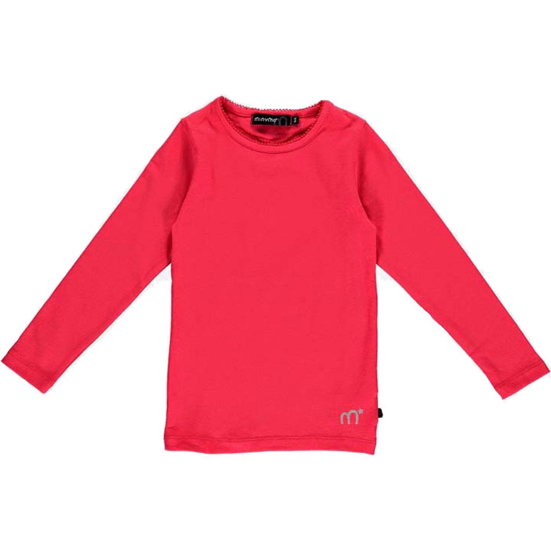 Minymo – langærmet pige t-shirt – Rød